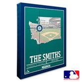 Seattle Mariners Personalized MLB Stadium Coordinates Canvas Print - 20718-16x20