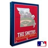 St. Louis Cardinals Personalized MLB Stadium Coordinates Canvas Print - 20719-16x20