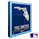 Tampa Bay Rays Personalized MLB Stadium Coordinates Canvas Print - 20720-16x20