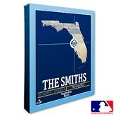 Tampa Bay Rays Personalized MLB Stadium Coordinates Canvas Print - 20720-16x20