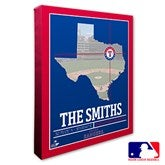 Texas Rangers Personalized MLB Stadium Coordinates Canvas Print - 20721-16x20