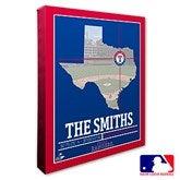 Texas Rangers Personalized MLB Stadium Coordinates Canvas Print - 20721-16x20