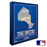 Toronto Blue Jays Personalized MLB Stadium Coordinates Canvas Print - 20722-16x20