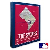 Washington Nationals Personalized MLB Stadium Coordinates Canvas Print - 20723-16x20