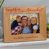 Together We Make A Family Personalized Printed Picture Frame- 5 x 7 - 20727-M