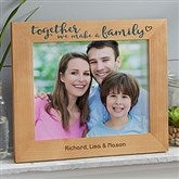 Together We Make A Family Personalized Printed Picture Frame- 8 x 10 - 20727-L