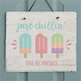 Summer Popsicle Personalized Slate Plaque - 20751