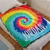 Tie-Dye Fun Personalized Fleece Tie Blanket - 20772