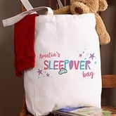 Girls Sleepover Personalized Petite Tote Bag - 20804