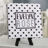 Black & White Personalized Baby Canvas Print - 8