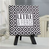 Black & White Personalized Baby Canvas Print - 5½ x 5½ - 20863-5x5