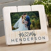 Infinite Love Personalized Wedding Shiplap Picture Frame - 20875