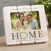 Home Wreath Personalized Family Shiplap Frame - 20876