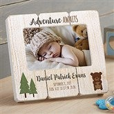 Woodland Adventure Bear Personalized Shiplap Frame - 20880-B