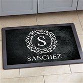 Circle & Vine Monogram Personalized Kitchen Mat - 18x27 - 20892