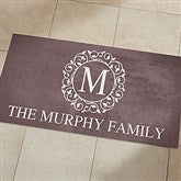 Circle & Vine Monogram Personalized Oversized Kitchen Mat - 24x48 - 20892-O