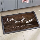 Live, Laugh, Love Personalized Kitchen Mat - 20x35 - 20894-M
