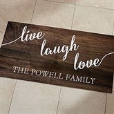 Live, Laugh, Love Personalized Oversized Kitchen Mat - 24x48 - 20894-O