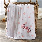 Floral Embroidered Muslin Baby Blanket - 20909