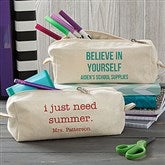 Write Your Own Personalized Canvas Pencil Case - 20913