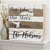 This Is Us Personalized Reclaimed Wood Sign - 12x12 - 20927-12x12