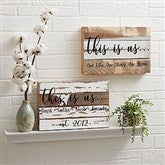 This Is Us Personalized Reclaimed Wood Sign - 12x8 - 20927-12x8