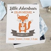 Woodland Adventure Fox Personalized Baby Keepsake Box - 20948-F
