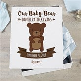 Woodland Adventure Bear Personalized Baby Keepsake Box - 20948-B