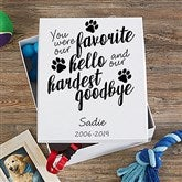 Paw Prints On My Heart Personalized Keepsake Memory Box - 20949