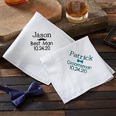 Groomsmen Embroidered Mens Handkerchief - 20954