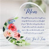 Write Your Own Floral Mother Personalized Colored Heart Keepsake - 20955