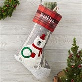 Wintry Cheer Polar Bear Personalized Christmas Stocking - 20996-PB