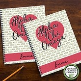 Alpha Chi Omega Personalized Large Notebooks-Set of 2 - 20999
