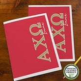 Alpha Chi Omega Personalized Folders - Set of 2 - 21000