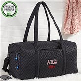 Alpha Chi Omega Embroidered Quilted Duffel Bag - 21001