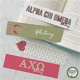 Alpha Chi Omega Personalized Paper Bookmarks Set of 4 - 21002