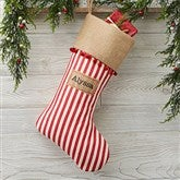 Stripe Cottage Christmas Personalized Christmas Stocking - 21003