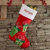 Festive Present Personalized Christmas Stocking - 21005-P