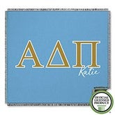 Alpha Delta Pi Personalized Greek Letter Woven Throw - 21023-A