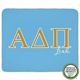 Alpha Delta Pi Personalized Greek Letter 60x80 Sherpa Blanket - 21023-SL