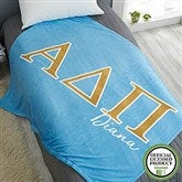 Alpha Delta Pi Personalized Greek Letter 50x60 Fleece Blanket - 21023-F