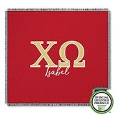 Chi Omega Personalized Greek Letter Woven Throw - 21025-A