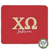 Chi Omega Personalized Greek Letter 60x80 Sherpa Blanket - 21025-SL
