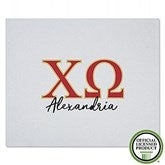 Chi Omega Personalized Greek Letter Sweatshirt Blanket - 21025-SW