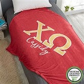 Chi Omega Personalized Greek Letter 60x80 Fleece Blanket - 21025-FL
