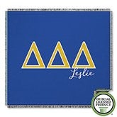 Delta Delta Delta Personalized Greek Letter Woven Throw - 21026-A