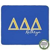 Delta Delta Delta Personalized Greek Letter 50x60 Sherpa Blanket - 21026-S