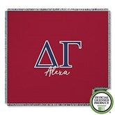Delta Gamma Personalized Greek Letter Woven Throw - 21027-A