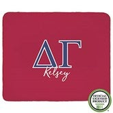 Delta Gamma Personalized Greek Letter 50x60 Sherpa Blanket - 21027-S
