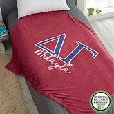 Delta Gamma Personalized Greek Letter 60x80 Fleece Blanket - 21027-FL